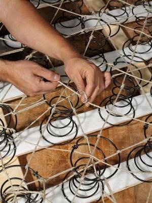 8-way hand tied springs can be re-upholstered