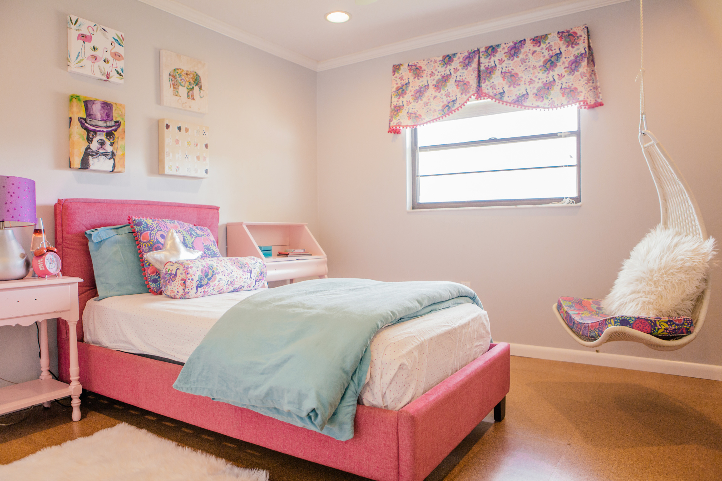 Project Share: Boho and Bright Girl's Room